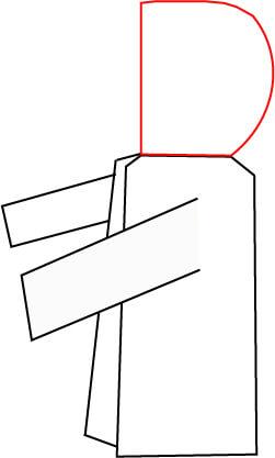フードの型紙